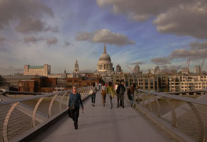st pauls cathedral millenium bridge